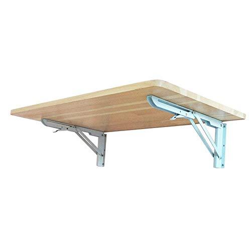 CWJ Haushalt Kleine Tisch Wandbehang Kiefer Gestelle Zusammenklappbare Set-Top Box Regal für Küche Bad Schlafsaal Einfache Kreative Bett Multifunktions Tisch,60 * 20 cm