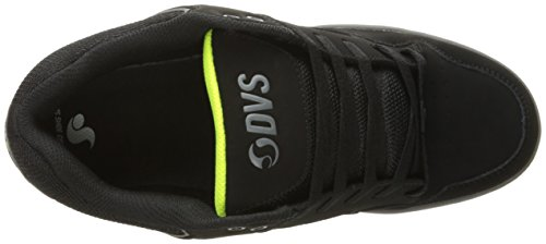 DVS APPAREL Enduro 125, Chaussures de Skateboard Homme Black Lime Leather Nubuck