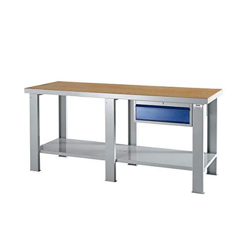 Schwerlast-Arbeitstisch mit Multiplex-Arbeitsplatte BxT 1500 x 700 mm