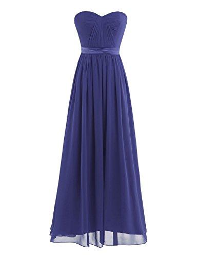 iEFiEL Elegant Damen Kleider festlich Cocktailkleid Chiffon Maxikleid Lang Brautjungfernkleid Abenkleider für Hochzeit Gr. 34-44