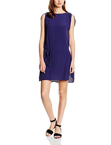 Cortefiel Damen Kleider Dress W/S Golden Piping blau (BLUES)