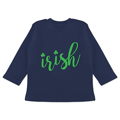 Anlässe Baby - Irish - St. Patricks Day Schriftzug - 18-24 Monate - Navy Blau - BZ11 - Baby T-Shirt Langarm (Lustige 18 Monate Alte Kostüm)