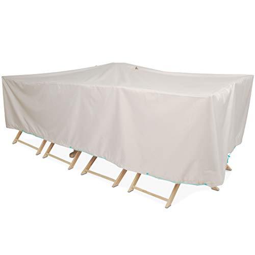 Cov'Up Schutzhülle für Gartentisch, 240 x 130 x 60 cm, Taupe