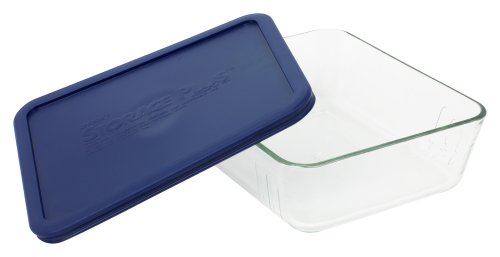World Kitchen 11 Coupe Storage Plus Plat rectangulaire avec couvercle en plastique 6017400 - Lot de 2