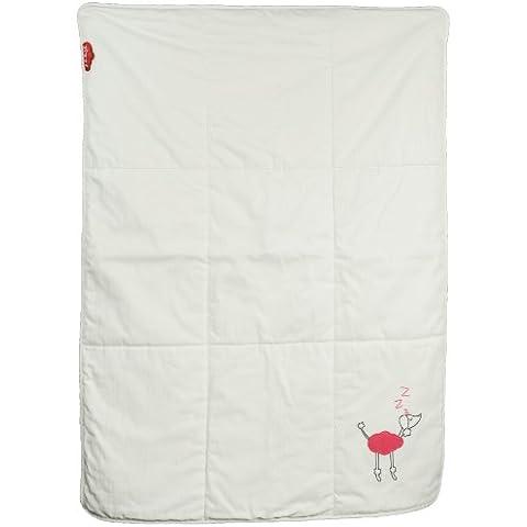 Zizzz 13Z014 - Edredón para bebé (relleno de lana suiza, algodón, 105 x 73 cm), diseño de caniche, color rosa