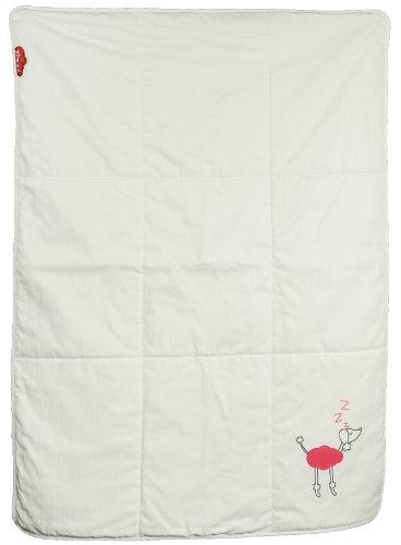 Zizzz 13Z014 Baby Bettdecke, Swisswool Füllung, natürlich und oekologisch, keine Kunstfasern, feinste Baumwolle,Design Poodle Holly, 105 x 73 cm, candy pink