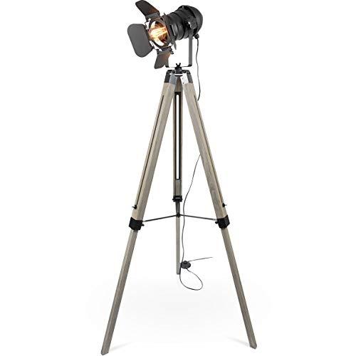 MOJO Tripod Stehleuchte Tischleuchte Höhenverstellbar Stehlampe Tischlampe Retro Industrial Design ml88 (Ohne Leuchtmittel) - Design-stehlampe