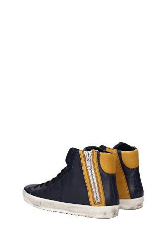 BIHUZE15 Philippe Model Sneakers Uomo Pelle Blu Blu