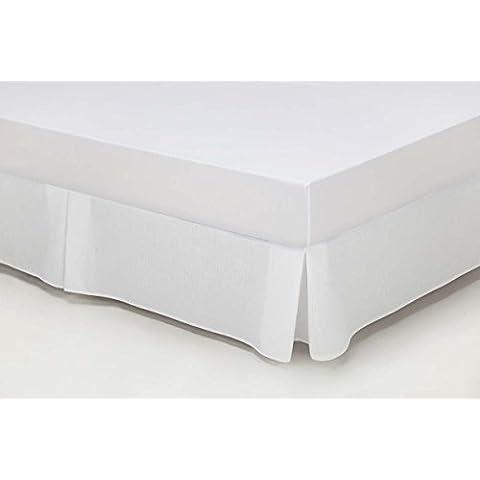 ES-TELA - Cubrecanapé HILO TINTADO RÚSTICO color Blanco óptico - Cama de 180 cm. - Tipo colcha - 50% algodón / 50% poliéster - Medidas: 180 x 190/200 + 33