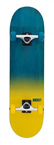 Rocket Skateboard completo Fade Serie, Blue/Yellow, 20,3 cm