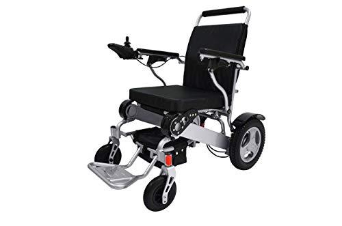 ELECYCLE Elektro-Rollstuhl, leicht, elektrisch, zusammenklappbar, Silber (54CM)