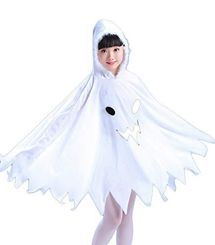 Halloween-Kapuzenmantel Umhang, Halloween-Kostüm, Geeignet für Größe 90 bis 160 cm, für Kinder,130cm (Geeignet Bis Kostüm)