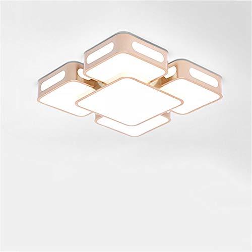 LCTCXD Moderne LED-Deckenleuchte, LED5730-Chip, Rose Gold Lampenschirm quadratische Deckenleuchte 50/60 cm Durchmesser, für Wohnzimmer Flur Büro Küche Rose-chip