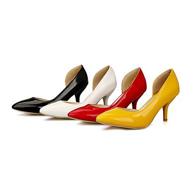 Moda Donna Sandali Sexy donna tacchi Primavera / Estate / Autunno Comfort PU Wedding / Party & sera abito / Stiletto Heel Slip-on Nero / Giallo / Rosso / Bianco Red