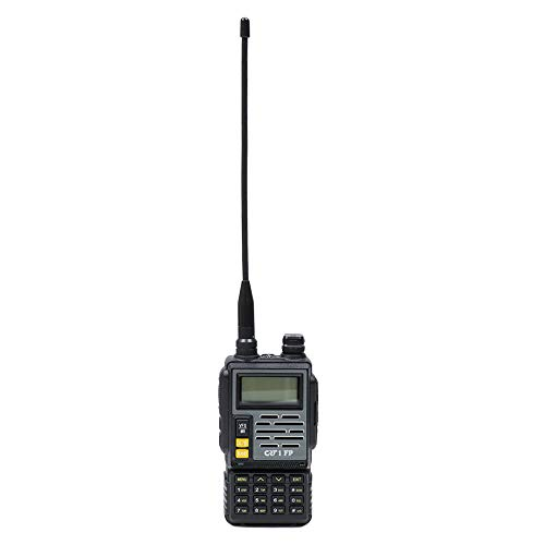 Radio CB VHF/UHF Tragbarer CRT 1 FP HAM Dualband 136-174 und 400-470 MHz Schwarz Cb Ham
