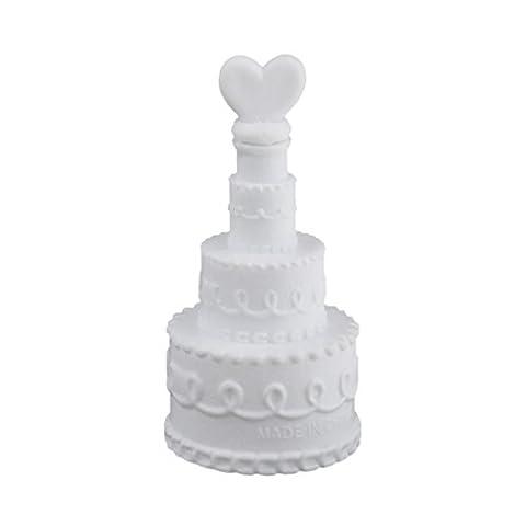 24X Kuchen Leere Seifenblasen-Set Blasen Seife Flaschen Romantische Hochzeit Geburtstagsparty Dekor - Amore Del Cuore Torta Nuziale
