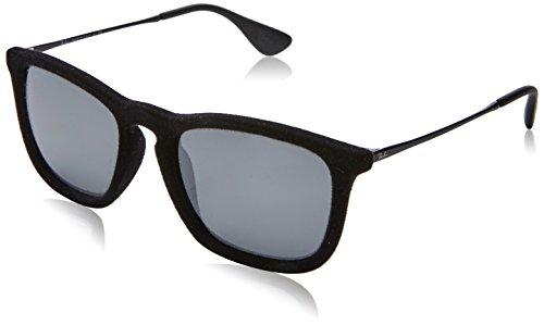 Rayban Unisex Sonnenbrille Chris Velvet Mehrfarbig (Gestell: Schwarz/Gunmetal, Gläser: Grau Verspiegelt 60756G)), Large (Herstellergröße: 54)