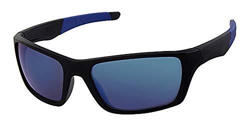 Sport und Sonnenbrillen, frei um gelb Riemen Kordel, blau verspiegelte Gläser, Kunststoff Rahmen
