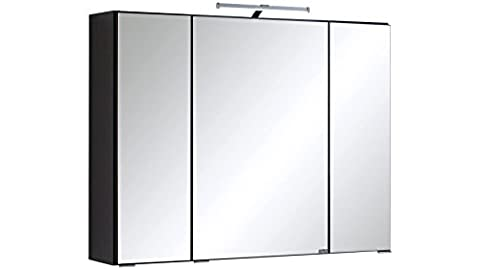 HELD MÖBEL Spiegelschrank Texas Breite 80 cm, mit LED-Beleuchtung anthrazit