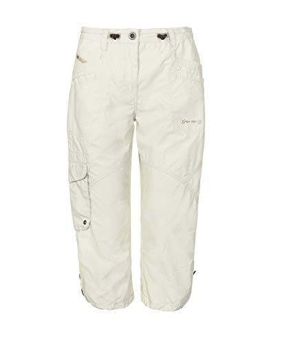 G.I.G.A. DX Damen Caprihose Fenia, 3/4 Cargo Hose für den Sommer, Taillenweite verstellbar, weiß, 44