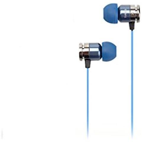 t-peos Rich 300Hybrid Trasduttore auricolare driver dinamico Goditi la musica ad alte prestazioni ed emozionante Cuffie 3,5mm 4POLE placcato oro 24K L–Spina Tipo naturale equilibrata Audio Hi-Fi/Galaxy iPhone OS Android A6A7A8S6S7S8Note, Blue