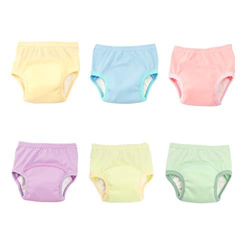 MissChild Baby Boy Girl Potty Training Pannolino Pantaloni 6 Confezione Pantaloni da Allenamento Intima 1-5 Anni