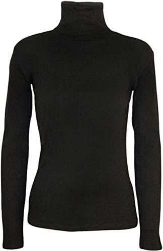 GUBA® Ladies Long Sleeve Turtle Polo Neck TOP Womens HIGH ROLL Neck TOP Jumper 8-26