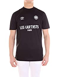 a0323ee7d0ab5 Umbro Homme U64501U060 Noir Coton T-Shirt