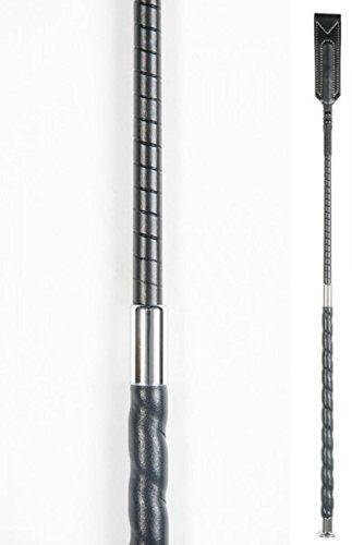 Springgerte mit Klatsche 63 cm-schwarz mit Knauf