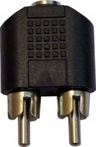 ClassyTek 2Rca Male to 3.5mm Stereo Female Jack Audio Connector Converter
