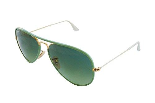 RayBan Unisex Sonnenbrille Aviator, Gr. One size (58), Grün (Green 001/3M)