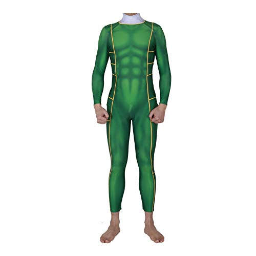 Power Ranger Kostüm Kinder Erwachsener Cosplay Kostüm Superhelden Halloween Onesies Mottoparty Karneval Strumpfhosen Kostümball Prop,Green-Child-XS