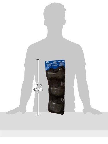 HUDORA Biomechanisches Protektorenset, schwarz/grau, Gr. L, 83031