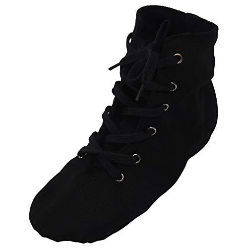 TOOGOO(R) Chaussures avec un talons en toile en semelle douce pour le Jazz et la danse de ballet moderne Chaussures de ballet pour les hommes et les femmes - Noir DS002-11