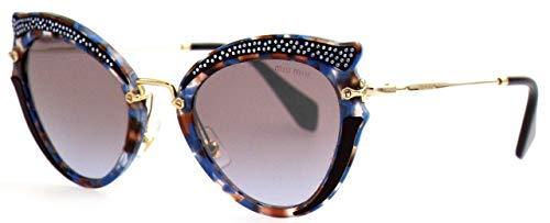 Miu Miu Damen 0MU05SS TZ52H2 52 Sonnenbrille, Braun (Azure Havana Violet Brown Silver)