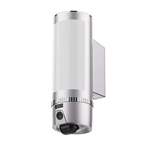 FREECAM Wall-Light Überwachungskamera, Wireless WiFi Indoor/Outdoor Flutlicht Überwachungskamera, Motion-Activated, Nachtsicht, Zwei-Wege-Audio, Sirene Alarm