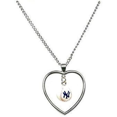 Baseball New York Yankees-Collana con ciondolo a forma di (Baseball Gioielleria)
