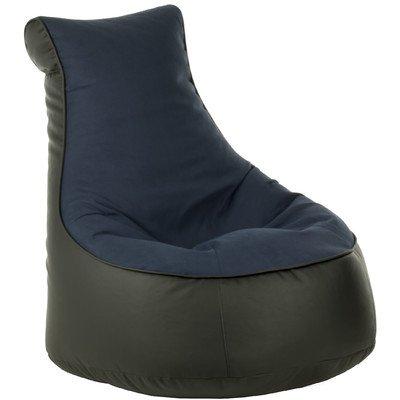 Sitzsack Lotos-Genua Farbe (Lotos): Schwarz, Farbe (Genua): Blau