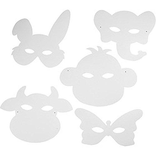 Tiermasken, H: 13-24 cm, 16 Stück, 230 g
