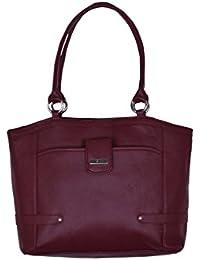 Suman International PU Leather Casual Handbag Maroon Shoulder Bag With Sling Belt Women & Girl's Office Bag