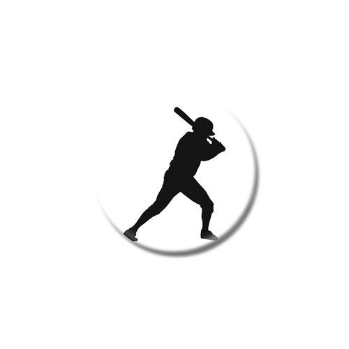 """Set di tre baseball C calamite da frigo-taglie a scelta-25mm & 38mm, Printed Design, 38mm (1œ"""")"""
