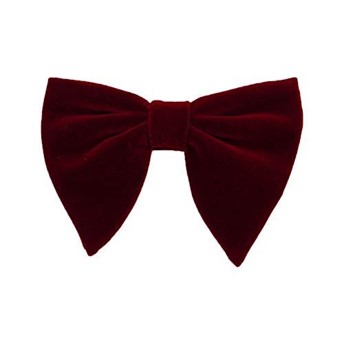 Gespout 1 Stück Erwachsene Bow Tie für Hochzeit Party Datierung Mode Bekleidungs zubehör Size 11.5x9.5cm (deep red) Gold Pretied Bow Tie