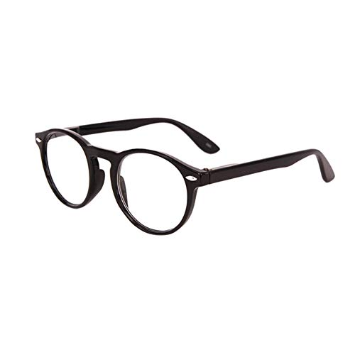 FBAreading-165064-black-250 Inlefen Retro Runde Lesebrille für Männer und Frauen Mode Brille zum Lesen (schwarz +2.5)
