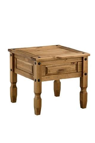 Birlea Corona Lamp Table, Waxed Pine
