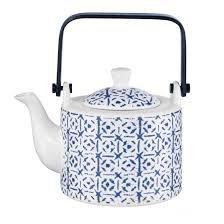 ASA Selection – Indigo – Théière avec Filtre à thé – Porcelaine – Ø 12 cm, h. 16,7 cm, 0,75 l