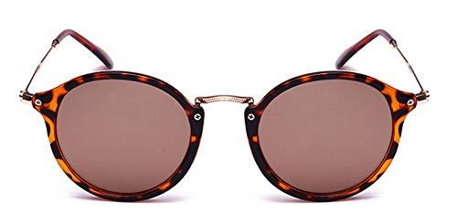 WSKPE Sonnenbrille Runde Sonnenbrille Sonnenbrille Frauen Männer Schattierungen Schildkröte Frame Sonnenbrille Braun Linse