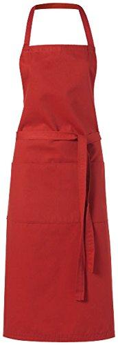 Schürze rot/Küchenschürze Grillschürze Latzschürze mit zwei Taschen vorne