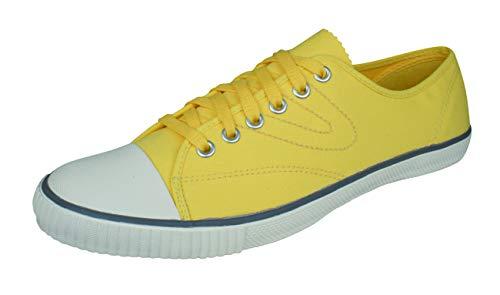 Tretorn Herren Schuhe Sneakers (Tretorn T56 Canvas Herren Turnschuhe-Yellow-46)