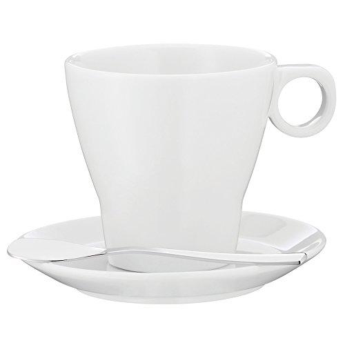 WMF Espressotasse Doppio mit Paddel Untertasse Barista Cromargan Edelstahl rostfrei spülmaschinengeeignet