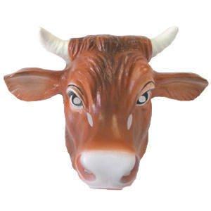 Hartplastik Tier-Maske für Erwachsene Kuh